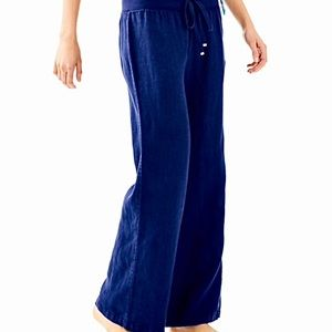 Lilly Pulitzer The Beach Pant Wide leg Linen. M